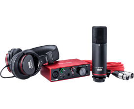 FOCUSRITE Scarlett 3 Solo-Studio - Pack enregistrement, Interface audio Scarlett Solo 3ième génération + micro studio + casque (