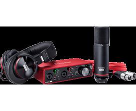 FOCUSRITE Scarlett 3 STUDIO - Pack enregistrement, interface audio Scarlett 2i2 3ième génération + casque + micro studio