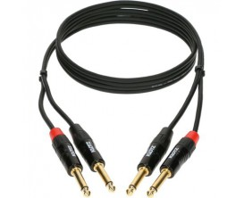 KLOTZ KT-JJ câble twin mini-link Pro stéréo jack droit connecteur laiton doré 3m