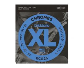 D'ADDARIO ECG25 - Jeu de cordes à filet plat pour guitare électrique Chromes, Light, 12-52