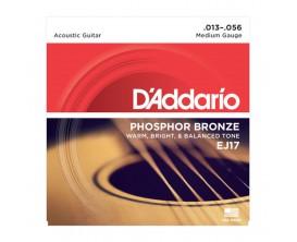 D'ADDARIO EJ17 - Jeu de Cordes en Phosphore Bronze pour Guitare Acoustique, Medium 13-56