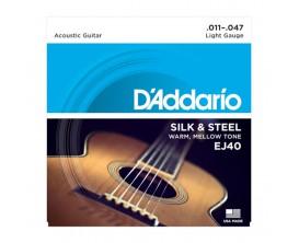 D'ADDARIO EJ40 - Jeu de Cordes en soie et acier pour guitare folk, 11-47