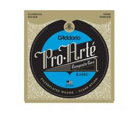 D'ADDARIO EJ46C - Jeu de cordes pour guitare classique Pro-Arte Composite, Tirant Fort
