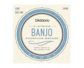 D'ADDARIO EJ69B - Jeu de 5 cordes pour Banjo 5, Phosphore Bronze, à Boules