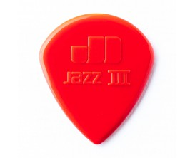 DUNLOP 47R3S- Sachet de 24 médiators Nylon Jazz I II & III 1.38 mm