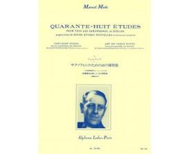 LIBRAIRIE - 48 Etudes pour Saxophone - Marcel Mule - Ed. musicale Leduc