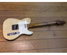 HAAR Trad T serial 81474 - Corps One piece swamp ash, Manche érable Flammé 4A Quartersawn , Micros BKP flat 50's, Finition Blo