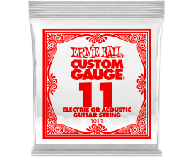 ERNIE BALL CUSTOM GAUGE 1011 - Nickel Steel - corde à l'unité 0.11