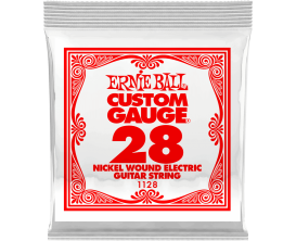 ERNIE BALL CUSTOM GAUGE 1128 - Nickel Steel - corde à l'unité 0.28