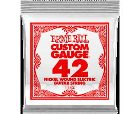 ERNIE BALL CUSTOM GAUGE 1128 - Nickel Steel - corde à l'unité 0.42