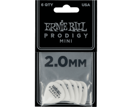 ERNIE BALL - AEB 9203 Sachet de 6 blanc mini 2mm