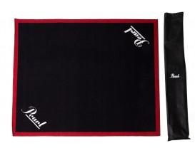 PEARL DRUM RUG - Tapis pour batterie pearl noir liseré rouge - DIM 180 cm / 200 cm