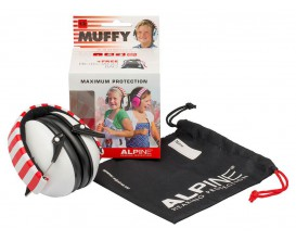ALPINE Muffy Music - Casque de Protection auditive, taille enfant, tout instrument dont batterie, -25dB, Blanc