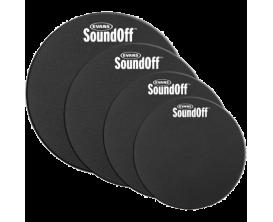 """Evans Soundoff SO-0246 - Pack de sourdines SoundOff Standard (10"""", 12"""", 14"""", 16"""")"""