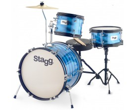 "STAGG TIM JR 3/16B RD 3PC BAT. JR 16""+HW/SIEGE - BLEUE"