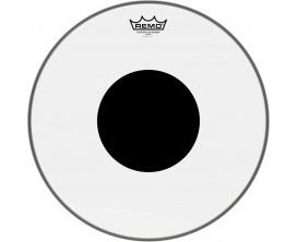 """REMO CS-1320-10 - Peau CS Transparente 20"""" + rond noir, pour grosse caisse"""