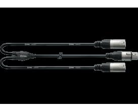 CORDIAL CFY0.3FMM - Câble XLR mâle / 2X XLR Femelle 30cm