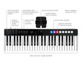 IK MULTIMEDIA KEYS I/O 49 - Clavier maître 49 touches