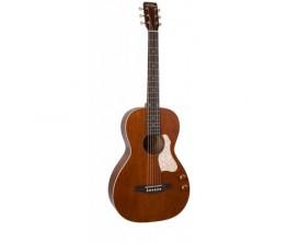 ART&LUTHERIE Havana brown Q-Discrete - Guitare format Parlor, électro-acoustique Q-Discrete, Finition Havana brown (Avec Gig Ba