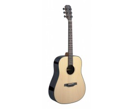 J.N. GUITARS LYN-D - Guitare acoustique dreadnought, Corps palissandre, Table épicéa massif, Finition naturelle