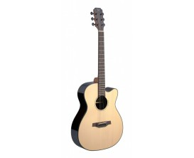 J.N. GUITARS LYN-ACFI - Guitare électro acoustique auditorium, Corps palissandre, Pan coupé, Table épicéa massif, Finition natu