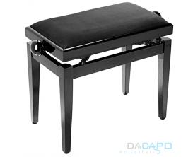 STAGG PB39 BKP VBK Banquette piano noir brillant avec pelote en velours noir