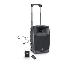 LD SYSTEMS ROADBUDDY 10 HS B5 - Sono portable sur batterie, lecteur multimedia USB SD, 1 Micros headset fournis, 120 w RMS, HP 1