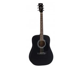 CORT AD810E BS2 - Guitare dreadnought éléctro-acoustique débutant, table épicéa, corps acajou, noire, open pores