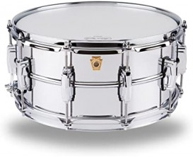 """LUDWIG LM402 - Caisse Claire Alu chromé Supra-Phonic, 6.5x14"""" smooth Shell, Imperial Lugs"""