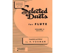LIBRAIRIE - Selected Duets for flute volume 2 ( advanced ) - H. VOXMAN