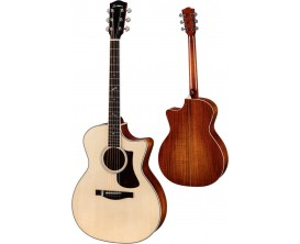 EASTMAN AC322CE - Grand auditorium, Electro-acoustique, cutaway simple, Table sitka, Incrustation fortissimo ( Coffre inclus )