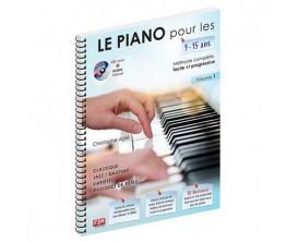LIBRAIRIE - Le piano pour les 9 - 15 ans - Christophe Astié - Ed : F2M