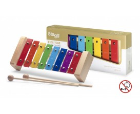 STAGG META-K8 RB - METALLOPHONE 8 RAINBOW KEYS