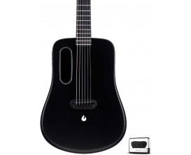 LAVA LA-0011 - Lava ME 2 Freeboost - Guitare électro-acoustique moulée, Super airsonic fibre de carbone, Finition : noire