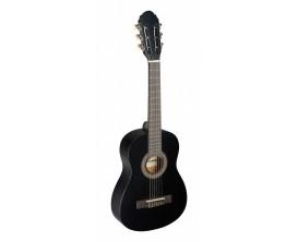 STAGG - C405 M BK - Guitare classique 1/4 noire avec table en tilleul