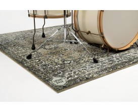 DRUMnBASE VP185 GRE Vintage Persian Stage mats - Tapis pour batterie style persan - Grande surface - 185X160cm - Green