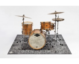 DRUMnBASE VP185 GRY Vintage Persian Stage mats - Tapis pour batterie style persan - Grande surface - 185X160cm - Grey