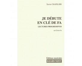 LIBRAIRIE - Je débute la cléf de FA ( Lectures progressives en cléf de FA ) - Xavier Chapelier - Ed : Bayard-Nizet Chapelier