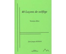 LIBRAIRIE - 48 Leçons de Solfège (Version élève) - Jean-Jacques Buron - Ed. Dernoncourt