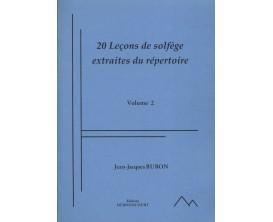 20 Leçons de Solfège extraites du répertoire, Vol. 2 - Jean-Jacques Buron - Ed. Dernoncourt