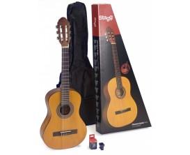 STAGG C430 M NAT PACK - Guitare classique 3/4 + housse + accordeur à bouche