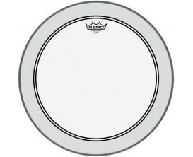 """REMO P3-0318-BP - Peau Powerstroke 3 Ambassador transparente 18"""" pour Tom sur pieds"""