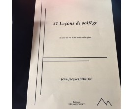 31 Leçons de solfège - J.J. Buron (Ed. Dernoncourt)
