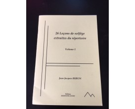 26 Leçons de Solfège extraites du répertoire, Vol. 1 - Jean-Jacques Buron - Ed. Dernoncourt