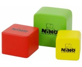 NINO 507-MC - Ensemble de 3 shakers carrés en bois