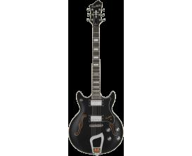 HAGSTROM HSALVAR09 - Guitare électrique double cutaway - Black