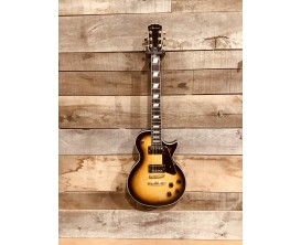 MAE WEST MELPTS - Guitare électrique type LP, Corps aulne, Archtop, Manche érable collé, 2 Humbuckers, Gold Hardware, Tobacco Su