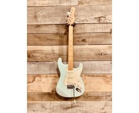 MAE WEST MESTBL - Guitare électrique type Strat Vintage, corps aulne massif, manche et touche érable, 3 micros simples, Sonic Bl