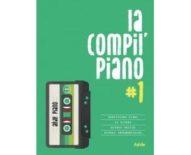 LIBRAIRIE - La compil piano volume 1, 20 titres répertoire chanson française, niveau facile - Ed : Aède Music