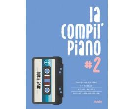 LIBRAIRIE - La compil piano volume 2, 20 titres répertoire chanson française, niveau facile - Ed : Aède Music